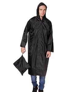 Fanto (Choice) Men's Polyester Raincoat Black_2XL Assorted
