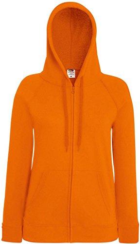 Fruit of the loom léger pour femme-coupe avec capuche et loisirs habillement sweat-shirt Orange