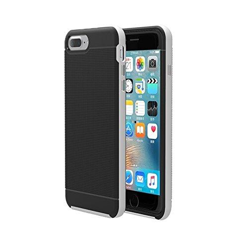 BING Für iPhone 7 Plus Trennbare Bumblebee TPU + PC Kombi-Gehäuse BING ( Color : Grey ) Silver