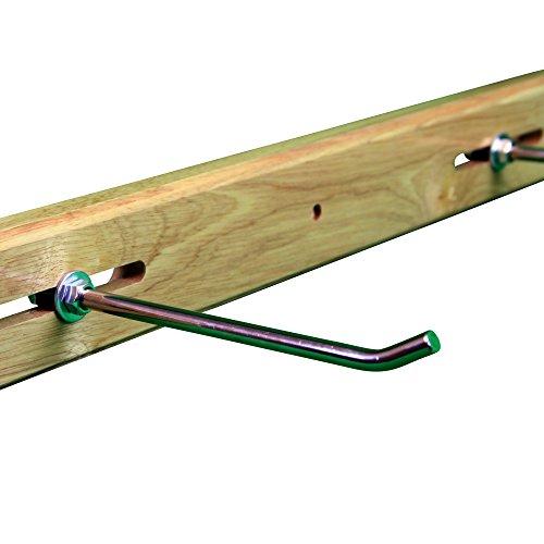 POWRX Wandhalterung aus Holz für Gymnastikmatten mit Ösen I Wandhalter Halterung Aufhängevorrichtung für Matten