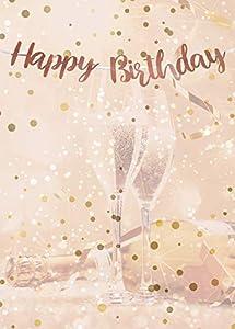 Alandra Cumpleaños Feliz cumpleaños Oro Rosa metálico Bunting, Crema y Rosa, Talla única