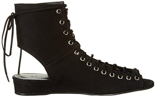 Shoe Biz Gladiator, Sandali alla Schiava Donna Nero (Nubuk Black)