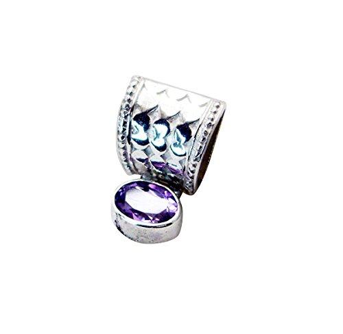 riyo Edelsteine Frauen Amethyst Silber schmuck Designs geflochtene anhänger lila n½ -
