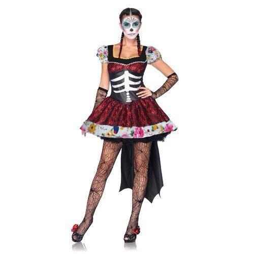LVLUOYE Bühnenperformance Uniform, Horror-Kostüm, mexikanisches Untote-Festival Kostüm Party Ghost Bride Kostüm