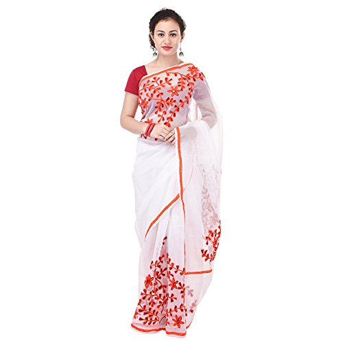 Rajasthani Look Women's Aari Work Pure Banarasi Cotton Supernet Saree With Blouse...