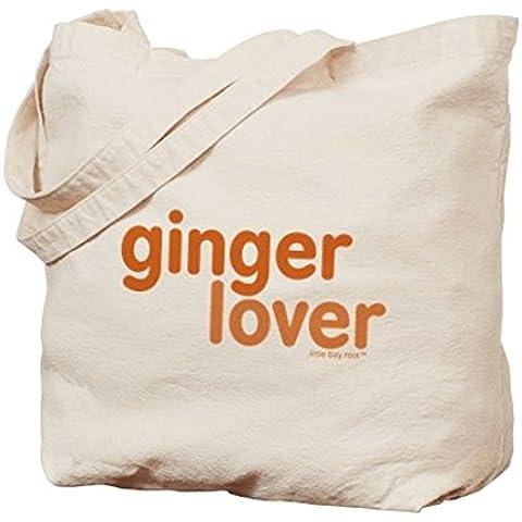 CafePress–Ginger amante–Gamuza de bolsa de lona bolsa, bolsa de la compra