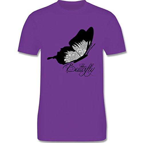 Statement Shirts - Butterfly Schmetterling - Herren Premium T-Shirt Lila