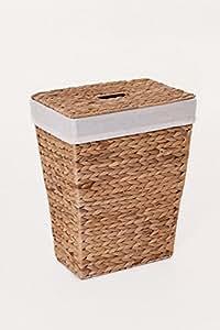 """Vivannp pratique panier à linge en jacinthe d'eau """"Home 43cm Haute"""