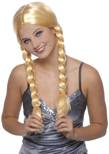 Boland 86187 - Perücke Natascha mit Langen, geflochtene Zöpfen, blond