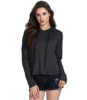 f0873ec2f Fanideaz Women s Cotton Full Sleeve Trendy Hooded T Shirt For Women ...