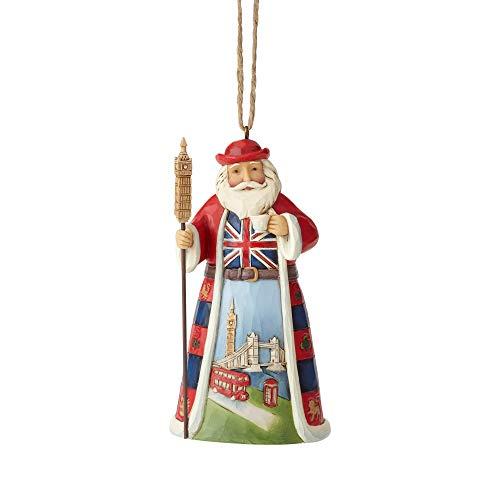 ENESCO Jim Shore Heartwood Creek Dekofigur Britischer Weihnachtsmann, 11,4 cm, Mehrfarbig
