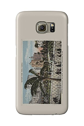 Hotel Vintage Park (Miami, Florida - View of Bayfront Park and Hotels - Vintage Poster (Galaxy S6 Cell Phone Case, Slim Barely There))