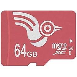 ADROITLARK Carte Micro SD 64 go Classe 10 UHS-3 Carte mémoire SD pour vidéo 4K / Téléphonie/Ordinateur Portable/Tablette Garantie 10 Ans (U3 64Go)