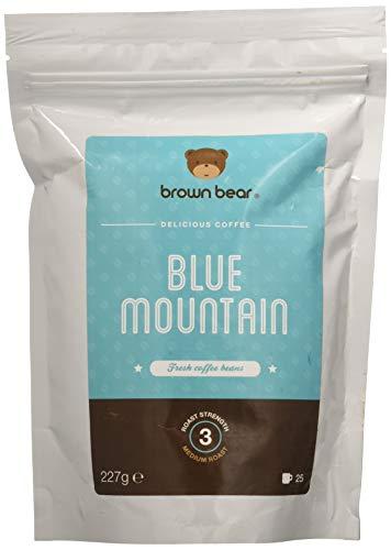 Caffè in chicchi interi Blue Mountain di Brown Bear a tostatura media da 227 g