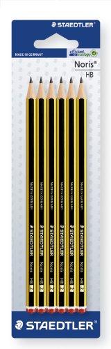 Staedtler Noris 120-2BK6D. Lápices de madera certificada. Pack con seis lapiceros de grafito HB2.