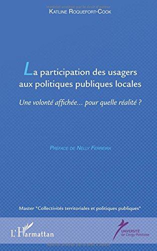 La participation des usagers aux politiques publiques locales