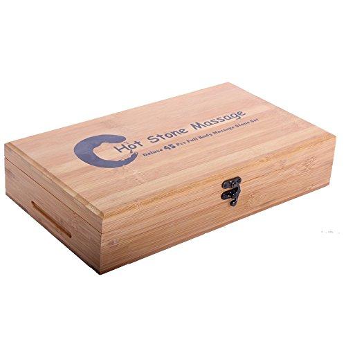 Promafit Hot Stone Massage Set Basic - Wärmegerät ca. 5,5 Liter + 45 Steine groß und klein - Heiße Steine Set für die Wärmebehandlung aus Basalt - Bild 1