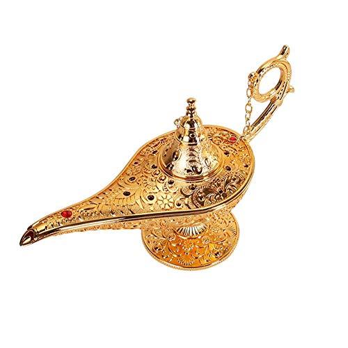 itzt Aladdin Lampe Magic Vintage Home Tee Öl Pot arabischen Kunsthandwerk Geschenk selten Retro-Legende Farbe Aladdin Genie Licht Wunsch Lampe Pot Sammlerstücke (7.87 4.72 2.75in) ()