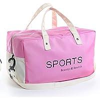 YLLY Bolsa de natación de Gran Capacidad, Bolsa de Gimnasio, Bolsa de Deporte para Viajes, Bolsa de Deporte, Color Rosa, tamaño 32x21x21cm