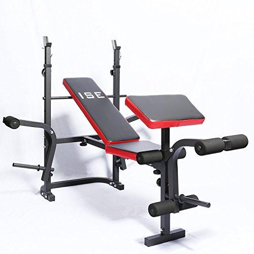 ISE Banc de Musculation Multifonction Réglable...