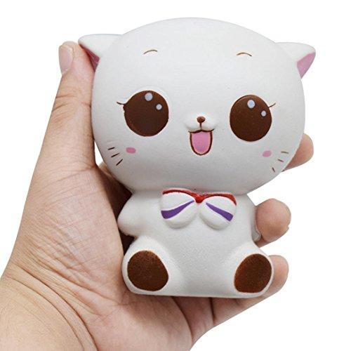 Banboyohi lento rimbalzo, giocattoli di decompressione, profumati,squishy piccolo gatto bianco giocattolo