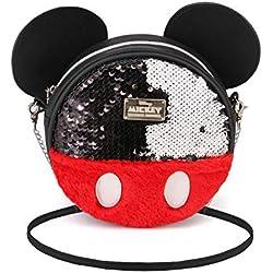 Mickey Mouse Sequin- Bolso Redondo (Pequeño)