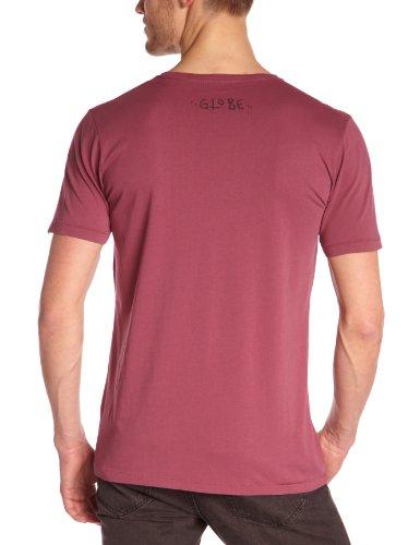 Globe Jobless–Maglietta da uomo, Uomo, Rosso mattone, S (FR: 36) Rosso mattone