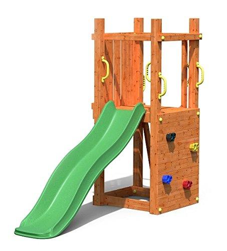 Fungoo Leon Spielturm mit grüner Rutsche 170cm (3 Kartons), 03405