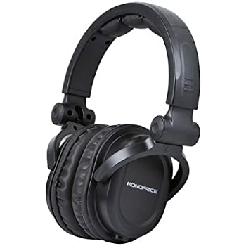 aa602cbed51 Monoprice Premium Hi-Fi DJ Style Over Ear Pro Headphone: Amazon.co ...