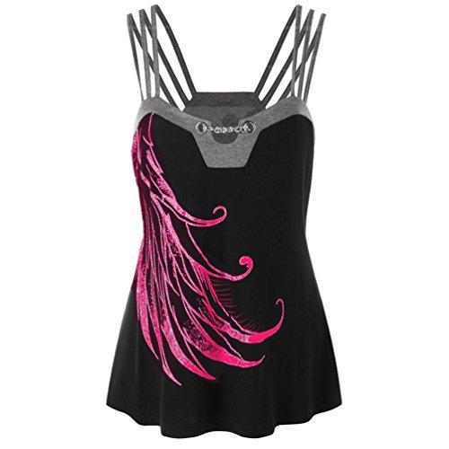 VEMOW 2018 Sommer Damen Mädchen Frauen Plus Size Strappy Tank Weste Tops Ketten Verzierte Bluse Ärmelloses Shirt Pullover Pulli Tees T-Shirt - Kleine Mädchen Tee-set Schrank