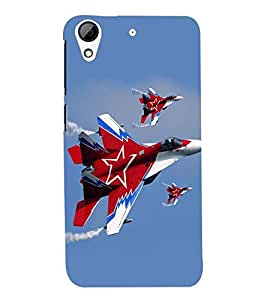printtech Fighter Plan Back Case Cover for HTC Desire 626