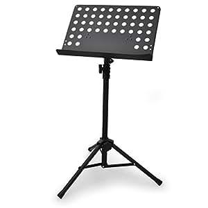 Schubert - Pupître pour partitions (hauteur réglable entre 67 et 120 cm, poids léger) -noir