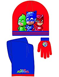 PJMASKS - Set bufanda - gorro - guantes rojo-azul