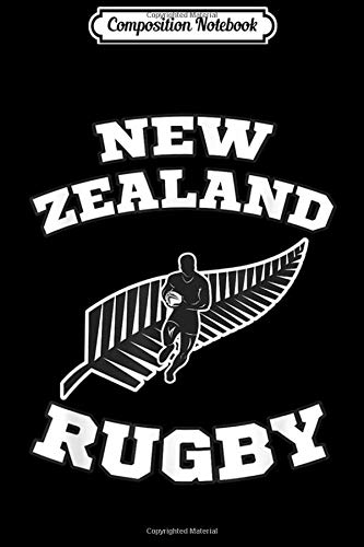 Composition Notebook: New Zealand Flag Kiwis Rugby Team ` Journal/Notebook Blank Lined Ruled 6x9 100 Pages