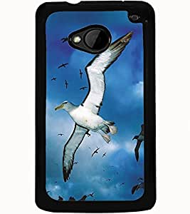 ColourCraft Flying Birds Design Back Case Cover for HTC ONE M7