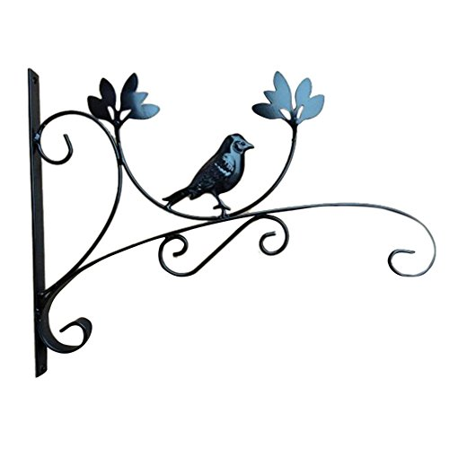Staffa per piante sospese,ghisa ornato bird hanging flowerpot cestino di fiori lanterna appesa cesto gancio staffa da parete per esterno da giardino