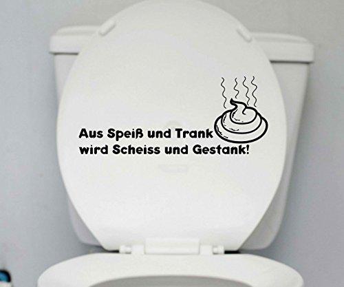 WC Deckel Aufkleber Trank Toilette Spruch Badezimmer Klo Bad Sprüche 1K173