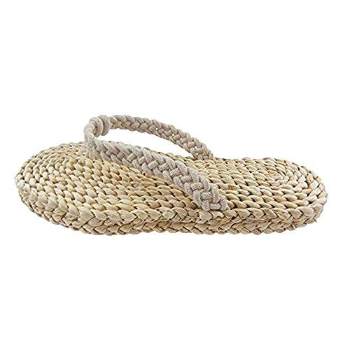 Natürlich Green Rattan Grass Woven Schuhe Home Hausschuhe double grass