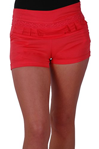EyeCatch - Short moulants slim en coton - Femme Corail