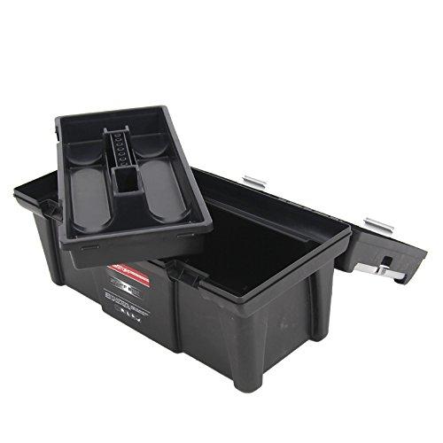 Kunststoff Werkzeugkoffer STUFF Semi Profi Alu 20″, 52,5×25,5cm Kasten Werzeugkiste Sortimentskasten Werkzeugkasten Anglerkoffer - 7