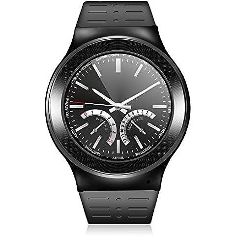 Teléfono del reloj del deporte al aire libre GPS Smart S99 Smartwatch reloj Bluetooth smart TF ranura para tarjeta SIM para teléfonos inteligentes Android V5.1 pulsómetro - negro