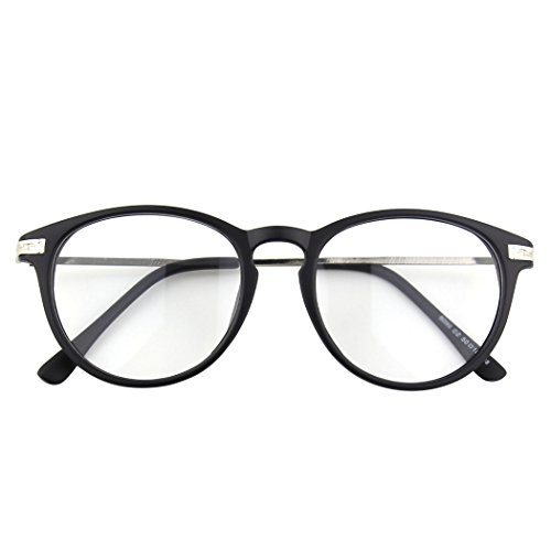 CGID CN92 Klassische Nerdbrille rund Keyhole 40er 50er Jahre Pantobrille Vintage Look clear...