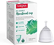 Sirona Pro Reusable Menstrual Cup - Small, Super Soft FDA Approved Made with Liquid Medical Grade Silicone