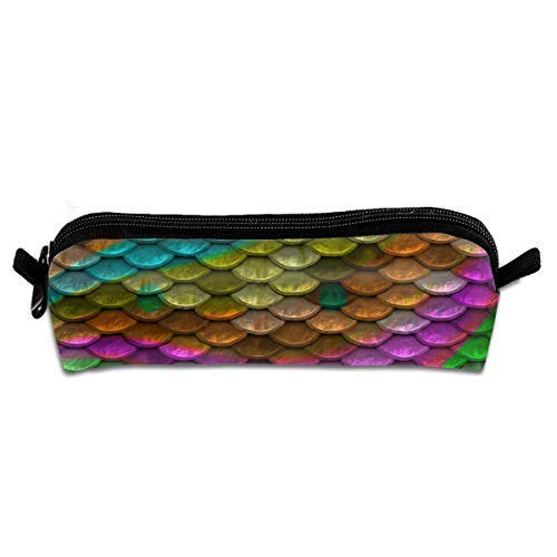 Scales Backround Rainbow Colors Multifunktions-Kulturbeutel Organizer Travel Wash Lagerung (Trapez)
