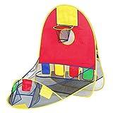 Pieghevole pop-up sport cancello pallacanestro palla scorrevole gioco tenda con 4alls per i bambini bambini giocattoli regali al coperto all'aperto ampio spazio di gioco (Color : -, Size : -)