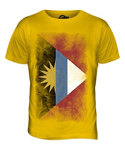 CandyMix Antigua Und Barbuda Verblichen Flagge Herren T Shirt Dunkelgelb