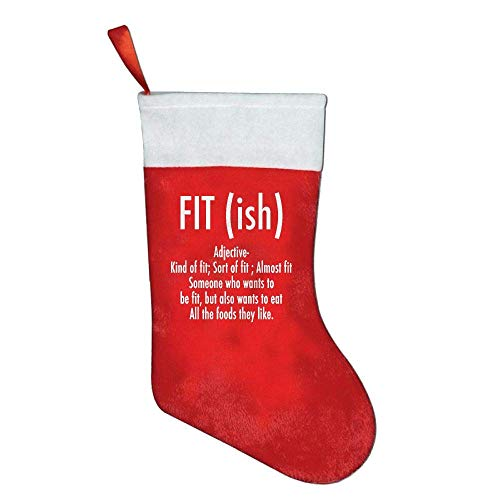 rd Definition - Funny Workout Christmas Stocking Festival Party Ornaments Candy Gift Bag ()