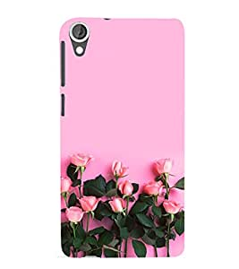 Pink Roses 3D Hard Polycarbonate Designer Back Case Cover for HTC Desire 820 :: HTC Desire 820 Dual Sim :: HTC Desire 820S Dual Sim :: HTC Desire 820q Dual Sim :: HTC Desire 820G+ Dual Sim