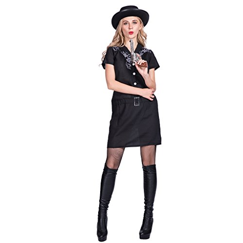 Kostüm Western Halloween - EraSpooky Damen Jeansanzug Western Kostüm Faschingskostüme Cosplay Halloween Party Karneval Fastnacht Kleid für Erwachsene