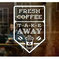 Wall4stickers Fresh Coffee Takeaway Cup Window Sign Vinyl Sticker Graphics Cafe Shop Salon Bar Restaurant